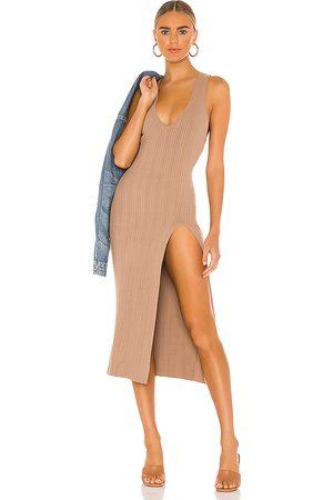 Michael Costello Kobieta Sukienki dopasowane - X REVOLVE Variegated Rib Bodycon Dress in - . Size L (also in XL).