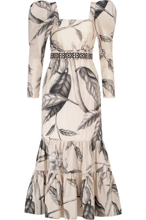 JOHANNA ORTIZ Timekeeper floral cotton midi dress