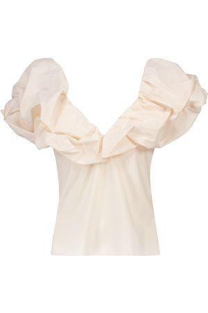 JOHANNA ORTIZ Embrace Chaos stretch-cotton top