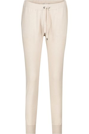 Brunello Cucinelli Embellished cashmere trackpants