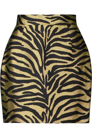 Khaite Kobieta Spódnice z nadrukiem - Eiko zebra-print jacquard miniskirt