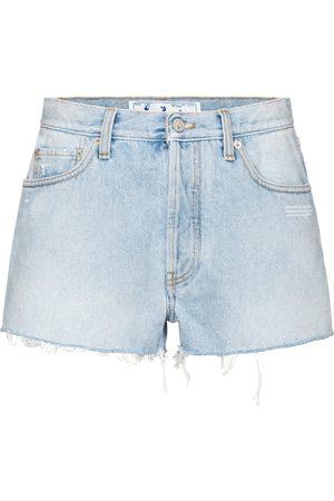 OFF-WHITE Kobieta Szorty - High-rise denim shorts