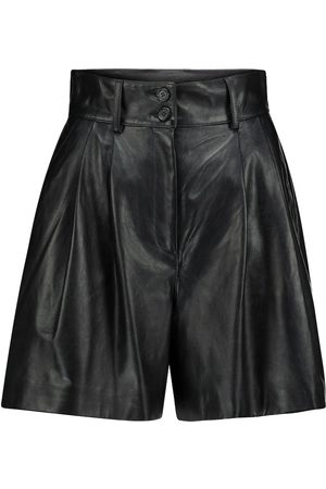 Dolce & Gabbana High-rise leather shorts