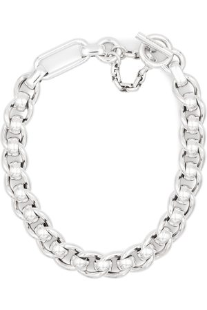 Bottega Veneta Sterling silver chain necklace