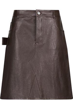 Bottega Veneta Leather miniskirt