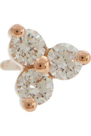 Maria Tash Trinity Large 14kt rose gold single earring with diamonds