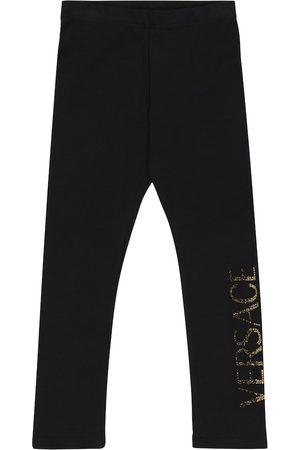 VERSACE Embellished stretch-cotton leggings