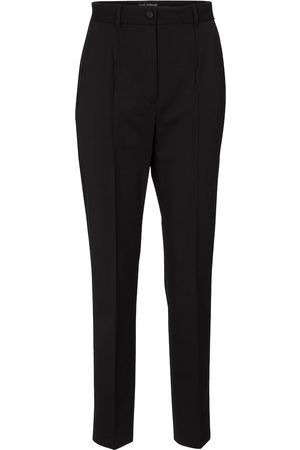 Dolce & Gabbana High-rise slim wool pants