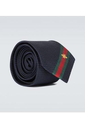 Gucci Mężczyzna Krawaty - Silk tie with bee Web