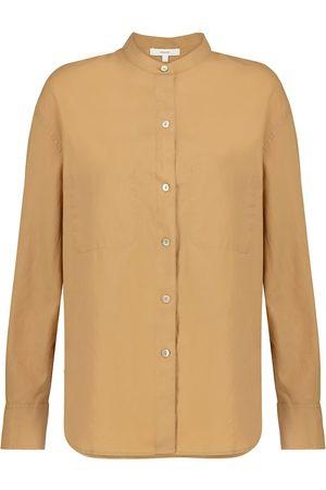 Vince Kobieta Z długim rękawem - Cotton and silk shirt