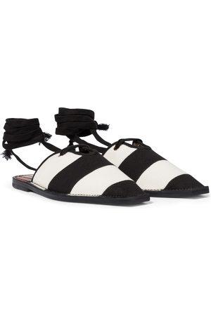 ZIMMERMANN Kobieta Kapcie - Striped canvas slippers