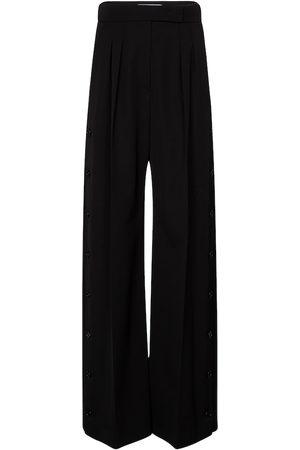 Max Mara Kobieta Spodnie z szeroką nogawką - Kirsch wide-leg virgin wool pants
