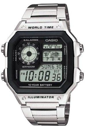 Casio Mężczyzna Zegarki - Zegarek - AE-1200WHD-1AVEF Silver/Silver