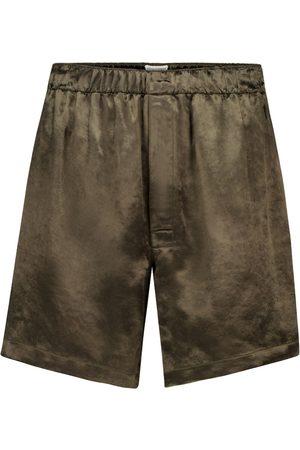 Bottega Veneta Cupro track shorts