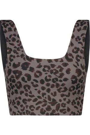 Varley Delta cheetah-print sports bra