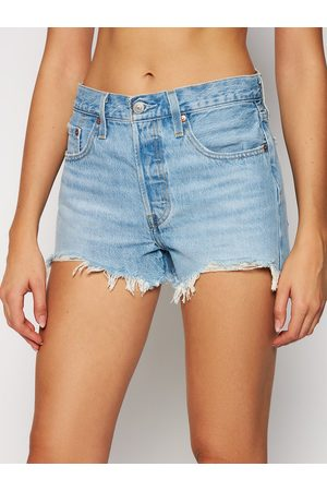 Levi's Szorty jeansowe 501 High-Waisted 56327-0086 Regular Fit
