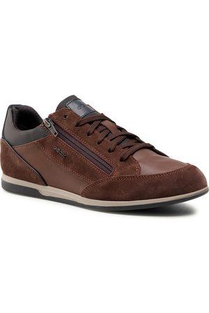 Geox Sneakersy - U Renan A U044GA 022ME C6249 Dk Brown/Cognac
