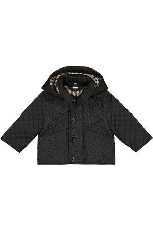 Burberry Płaszcze - Baby Monogram quilted coat