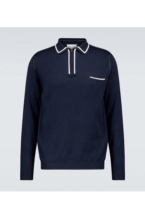 Maison Margiela Koszulki polo - Long-sleeved cotton polo shirt