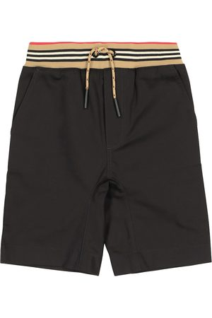 Burberry Chłopiec Szorty - Icon Stripe cotton twill shorts