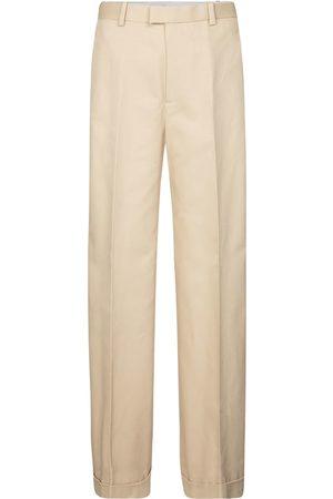 Bottega Veneta High-rise wide-leg cotton pants