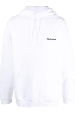 Balenciaga Mężczyzna Bluzy z kapturem - White