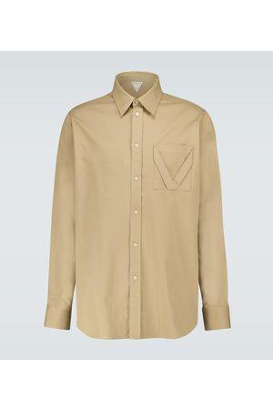 Bottega Veneta Long-sleeved cotton jacquard shirt