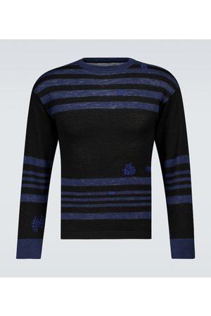 Maison Margiela Striped wool and linen sweater
