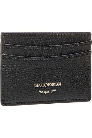 Emporio Armani Portmonetki i Portfele - Etui na karty kredytowe - Y3H013 YFW9B 80001 Nero