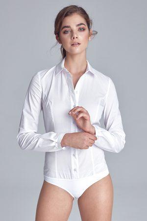 Nife Biała klasyczna koszula -body