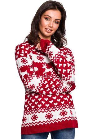 MOE Ciepły sweter z zimowym motywem - model 1