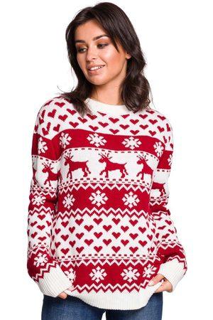 MOE Ciepły sweter z zimowym motywem - model 2