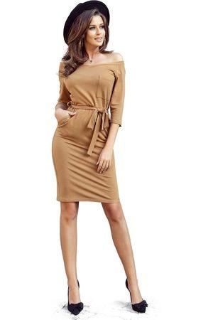 Numoco Codzienna dresowa sukienka z kieszeniami