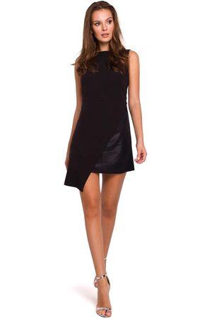 Makeover Kobieta Sukienki asymetryczne - Czarna wieczorowa asymetryczna sukienka mini