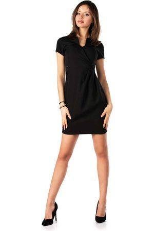 Merribel Kobieta Sukienki koktajlowe i wieczorowe - Czarna wizytowa sukienka z krótkim rękawem