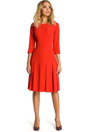 Moe Czerwona sukienka z obniżonym stanem