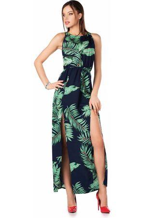 Merribel Długa sukienka bez rękawów z tropikalnym nadrukiem