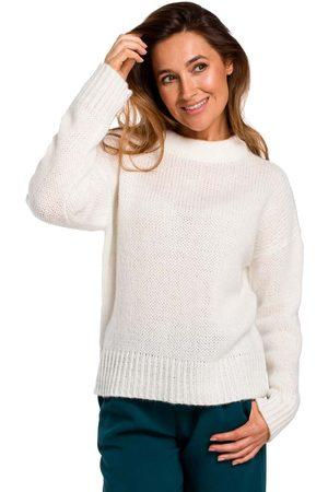 MOE Ecru klasyczny ciepły sweter