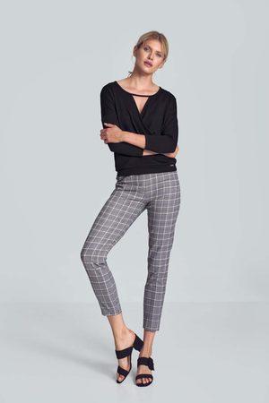 Figl Klasyczne spodnie w kratę