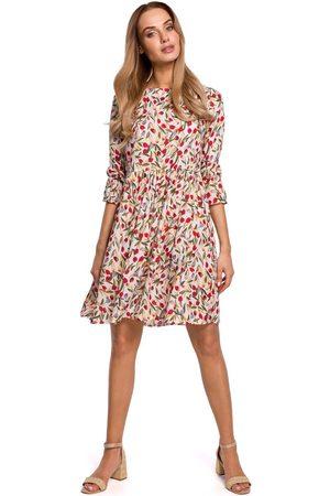 MOE Kobieta Sukienki z nadrukiem - Letnia sukienka w drobne kwiatki - model 5