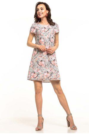 Tessita Letnia sukienka z kontrafałdą w kwiaty