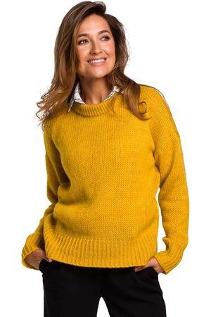 MOE Miodowy klasyczny ciepły sweter