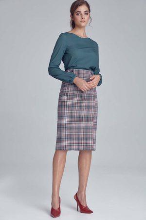 Nife Pepitka ołówkowa spódnica w kratę