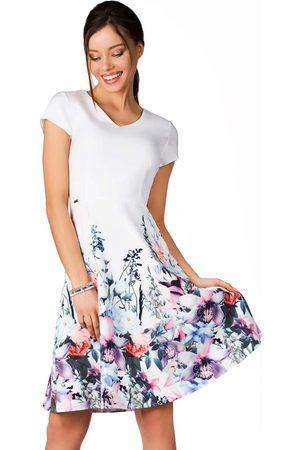 Merribel Kobieta Sukienki z nadrukiem - Rozkloszowana sukienka z dołem w kwiaty