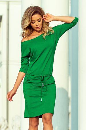 Numoco Kobieta Spódnice i sukienki - Sportowa sukienka ściągana w pasie - zielona
