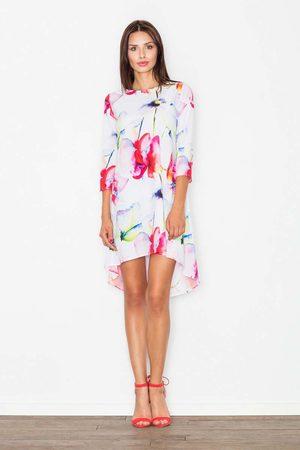 Figl Kobieta Sukienki asymetryczne - Sukienka asymetryczna w odcieniach czerwieni