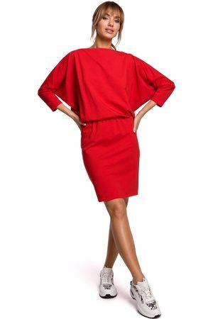 MOE Kobieta Spódnice i sukienki - Sukienka sportowa z dekoltem v na plecach - czerwona