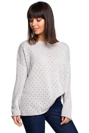 MOE Luźny ażurowy sweter