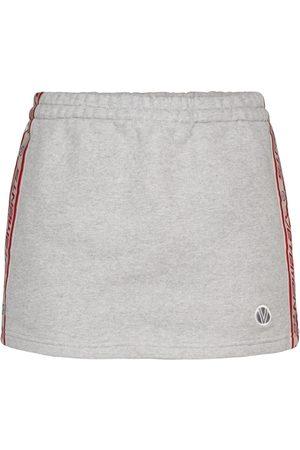Vetements Cotton-blend jersey miniskirt