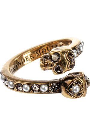 Alexander McQueen Embellished brass ring